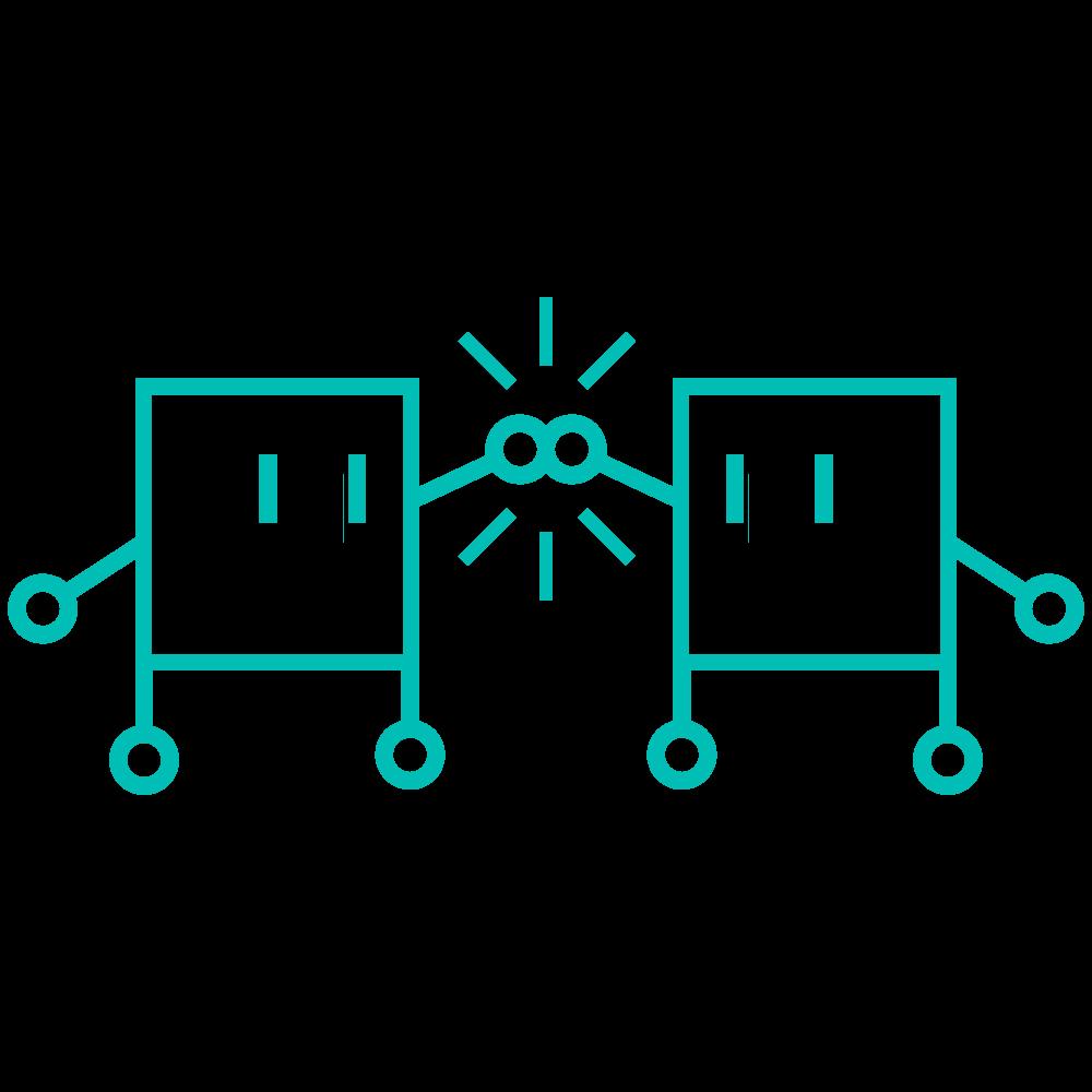 Logo robbot figurer som High-fiver